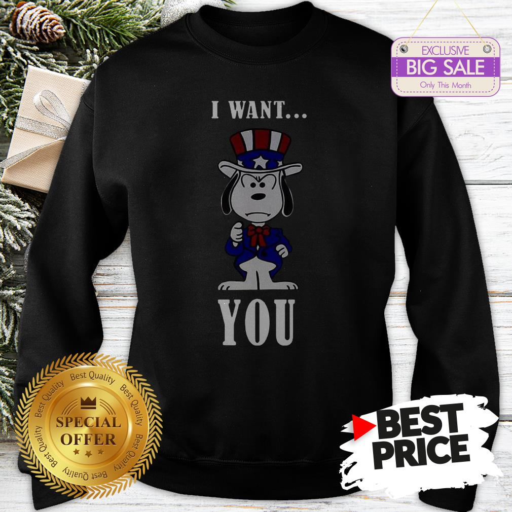 Official Snoopy American Flag I Want You Sweatshirt