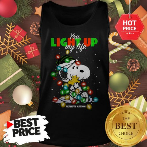 Official Snoopy You Light Up My Life Peanuts Nation Christmas Tank Top