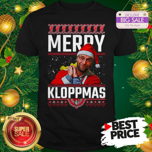 Official Something Merry Kloppmas Jurgen Klopp LFC Ugly Christmas Shirt