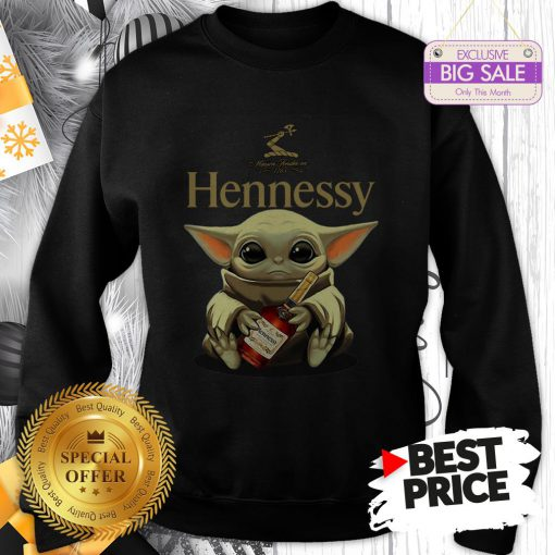 Official Star Wars Baby Yoda Hug Hennessy Swearshirt