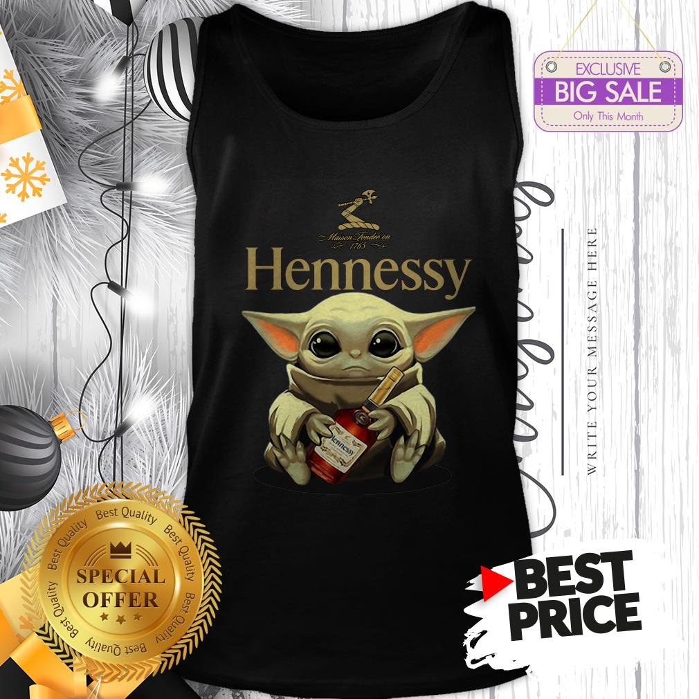 Official Star Wars Baby Yoda Hug Hennessy Tank Top