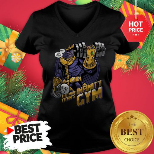 Official Thanos Fine I'll Lift It Myself The Mad Titan's Infinity Gym V-neck