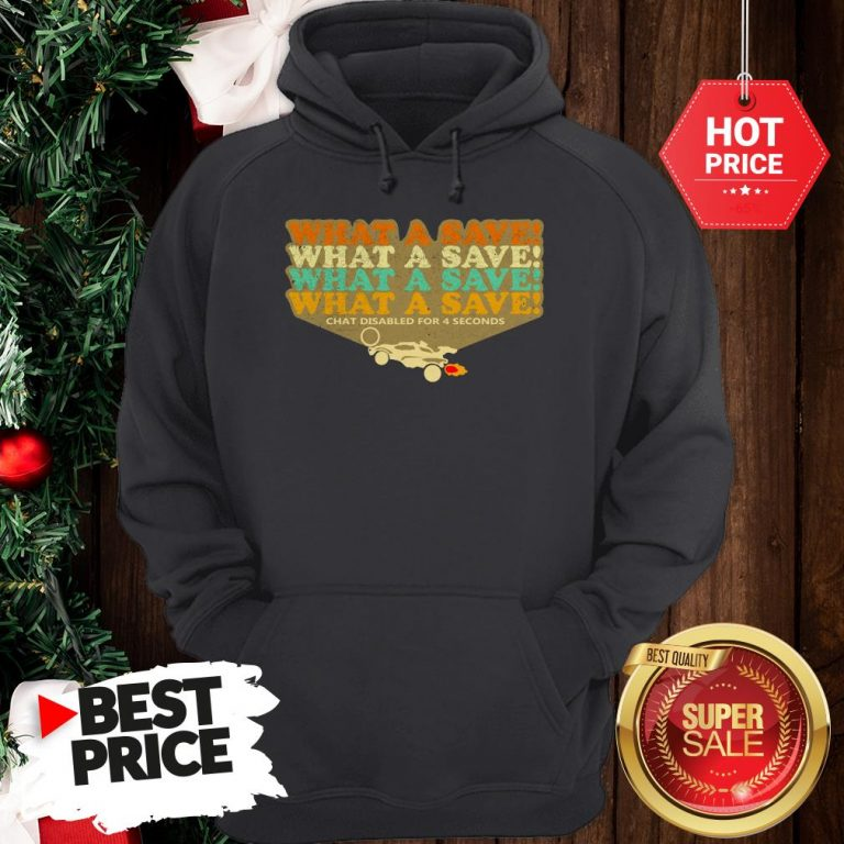Official The Pretty Octane Rocket What A Save Chat Disabled For 4 Seconds Vintage Hoodie