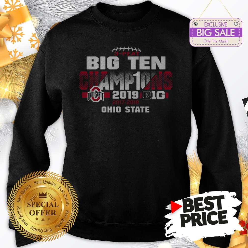 Official Top 2019 Big Ten Football Champions Ohio State Buckeyes Sweatshirt