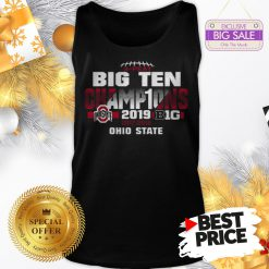 Official Top 2019 Big Ten Football Champions Ohio State Buckeyes Tank Top