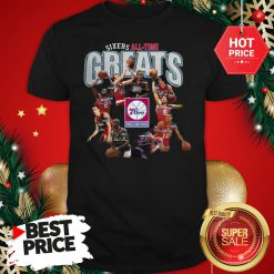 Official Top Philadelphia 76ers Sixers All Time Greats Signatures Shirt