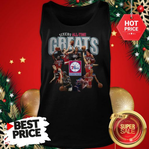 Official Top Philadelphia 76ers Sixers All Time Greats Signatures Tank Top