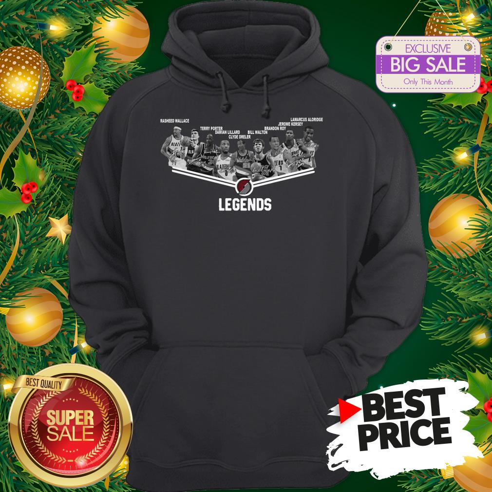 Official Top Portland Trail Blazers Legends Player All Signature Hoodie