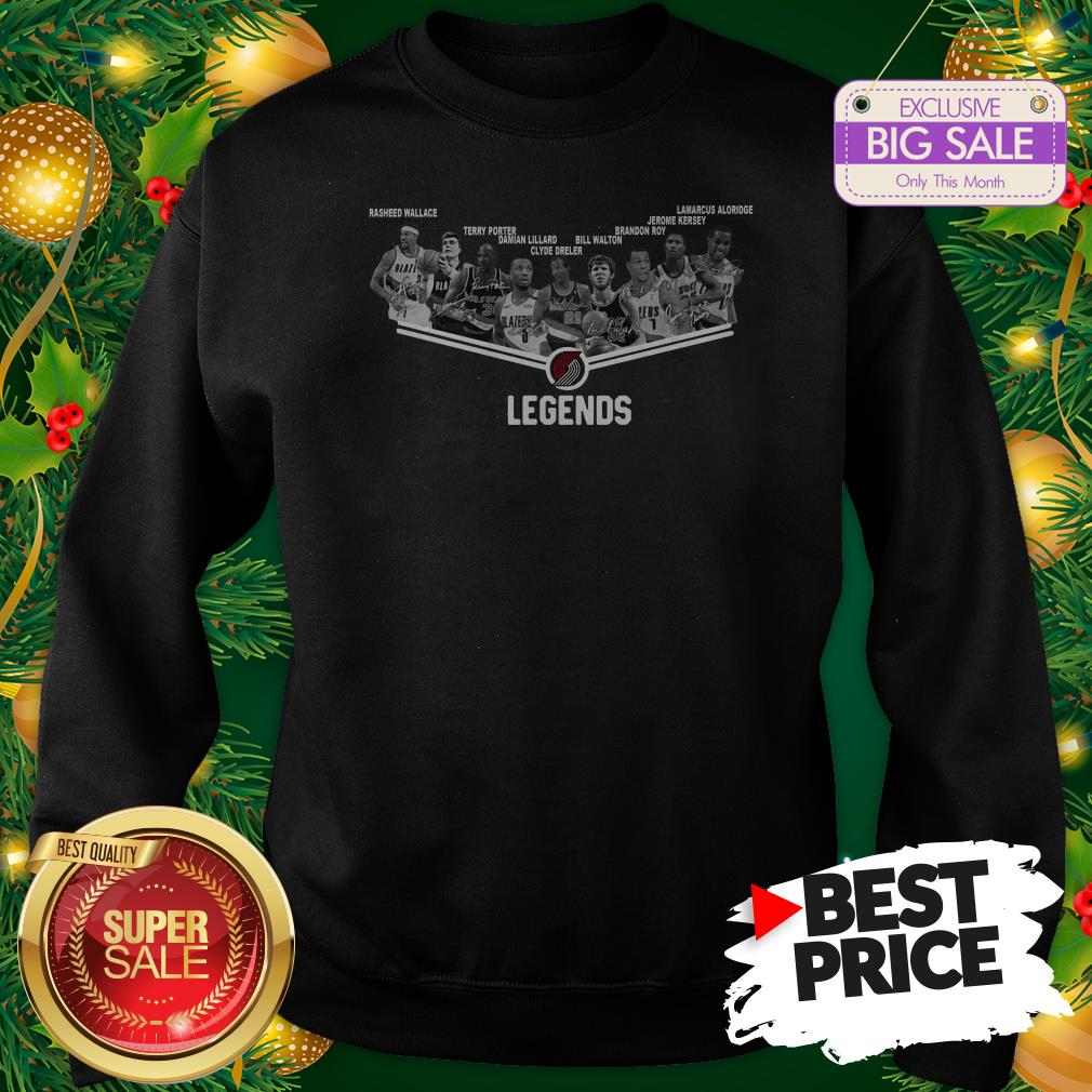 Official Top Portland Trail Blazers Legends Player All Signature Sweatshirt
