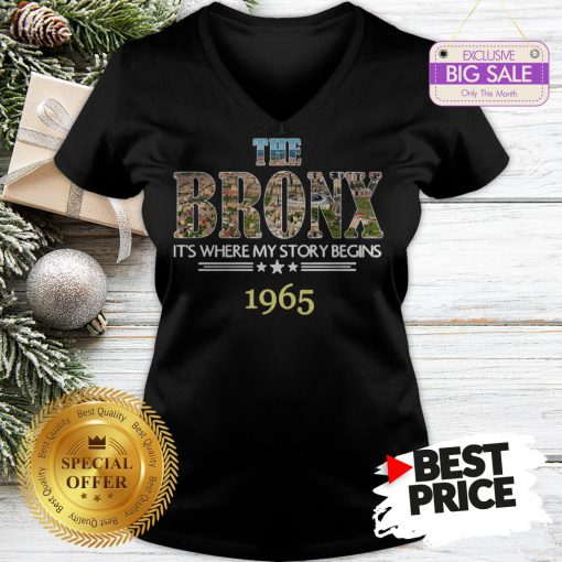 Official Top The Bronx It's Where My Story Begins 1965 V-Neck