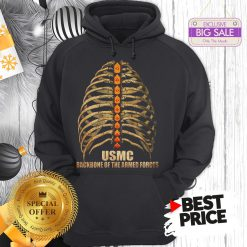 Official USMC Backbone Of The Armed Forces Vintage Hoodie
