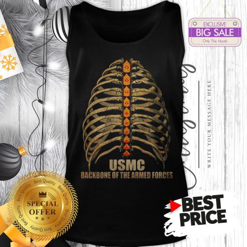 Official USMC Backbone Of The Armed Forces Vintage Tank Top