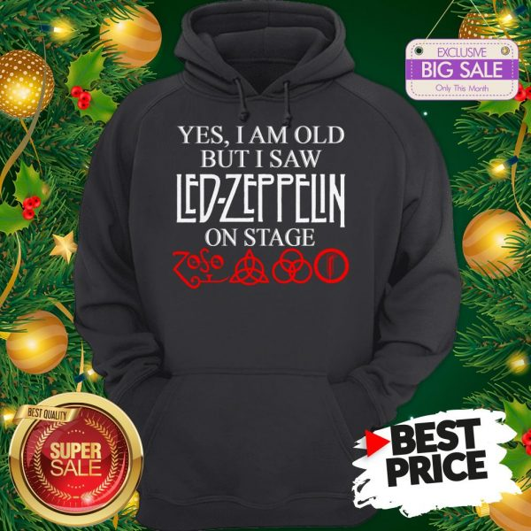 Official Yes I Am Old But I Saw Led Zeppelin On Stage Zoso Symbol Hoodie