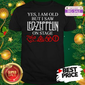 Official Yes I Am Old But I Saw Led Zeppelin On Stage Zoso Symbol Shirt