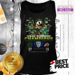 Oregon Ducks 2019 Pac 12 Conference Championship 37 Or 15 Tank Top