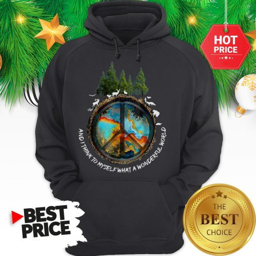 Peace Sign And I Think To Myself What A Wonderful World Hoodie