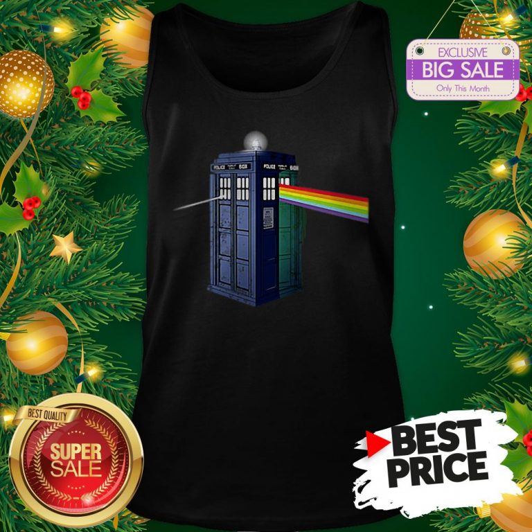 Pink Floyd Doctor Who Tardis Dark Side Of The Booth Tank Top