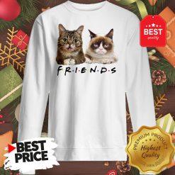 Pretty Grumpy And Lil Bub Cats Friends TV Show Sweatshirt