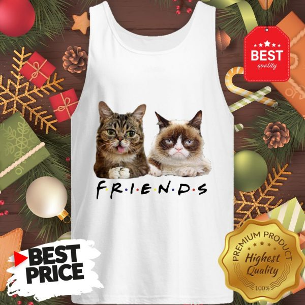 Pretty Grumpy And Lil Bub Cats Friends TV Show Tank Top