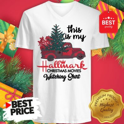Red Truck This Is My Hallmark Christmas Movie Watching V-Neck