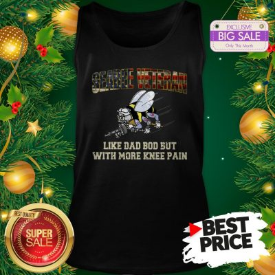 Seabee Veteran Like Dad Bod But With More Knee Pain USA Flag Tank Top