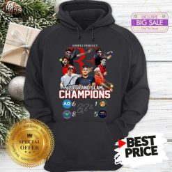 Simply Perfect Roger Federer 20 Grand Slam Champions Signature Hoodie
