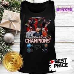 Simply Perfect Roger Federer 20 Grand Slam Champions Signature Tank Top