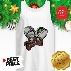 The Mandalorian Baby Yoda Kids Funny Bounty Bros Tank Top