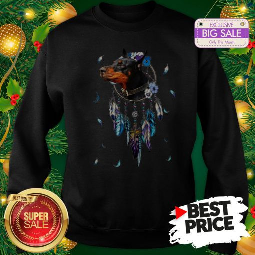 The Pretty Rottweiler Dreamcatchers Rings Native American Sweatshirt