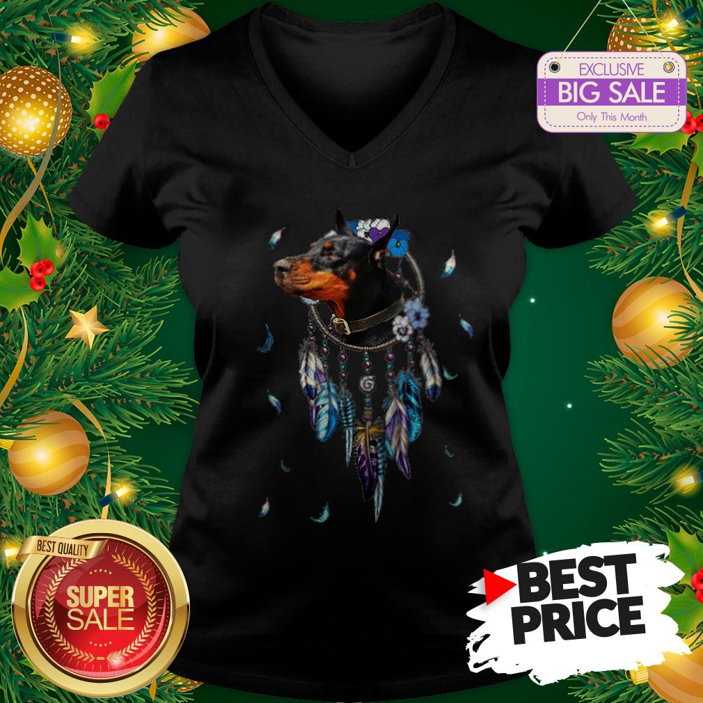 The Pretty Rottweiler Dreamcatchers Rings Native American V-Neck