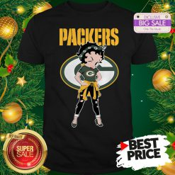 Top Betty Boop Green Bay Packers Lovely Shirt