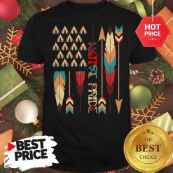 Top Native American Feather American Flag Apparel Shirt