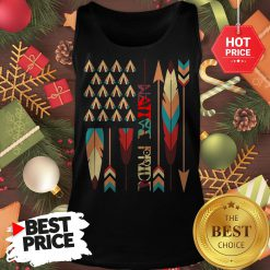 Top Native American Feather American Flag Apparel Tank Top