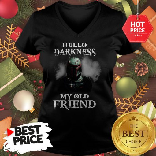 Top The Mandalorian Boba Fett Hello Darkness My Old Friends V-Neck