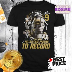 Under 9 Drew Brees Signed Passing To Record 540 New Orleans Saints Shirt