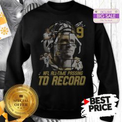 Under 9 Drew Brees Signed Passing To Record 540 New Orleans Saints Sweatshirt