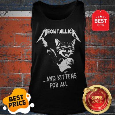 Cat Meowtallica And Kittens For All Metallica Tank Top