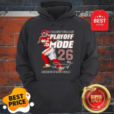 Hot Red Damien Williams Playoff Mode Chiefs Hoodie