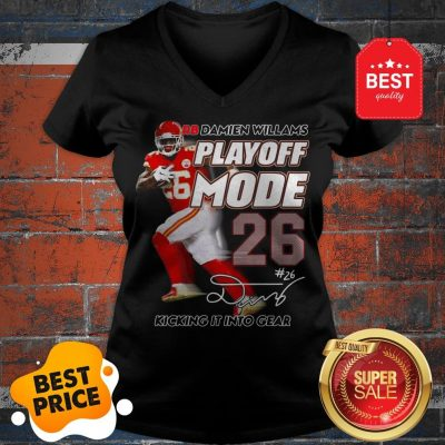 Hot Red Damien Williams Playoff Mode Chiefs V-Neck