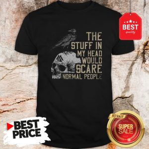 Hot Skull The Stuff In My Head Would Scare Normal People Shirt