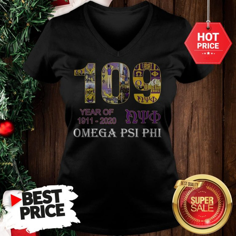 Official 109 Years Of Nyo 1911 2020 Omega PSI PHI V-Neck