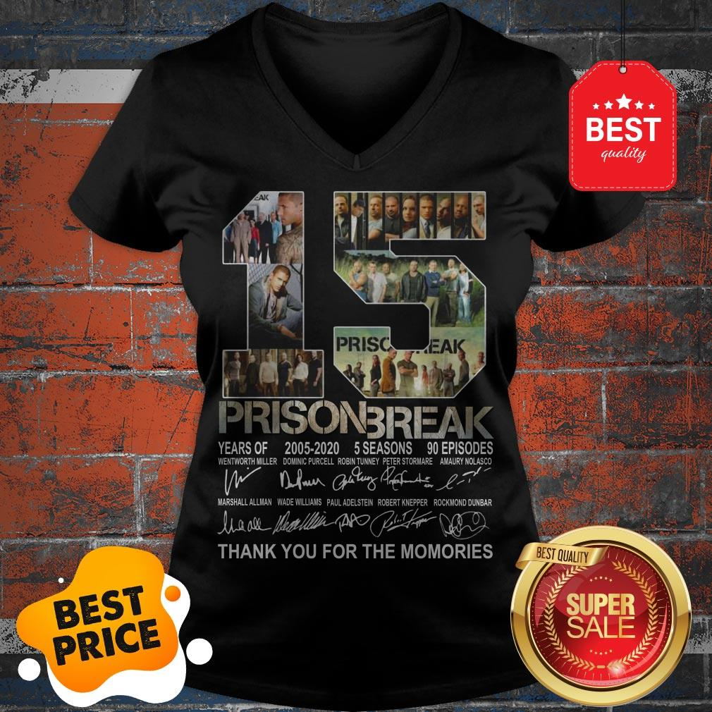 Official 15 Years Of Prison Break 2005-2020 Thank You For The Memories V-Neck