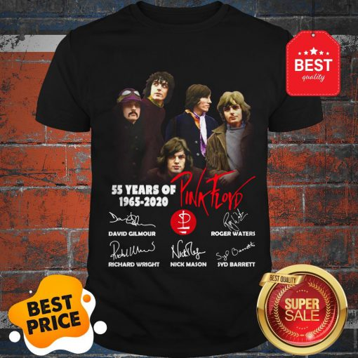 Official 55 Years Of Pink Floyd 1965-2020 Signature Shirt