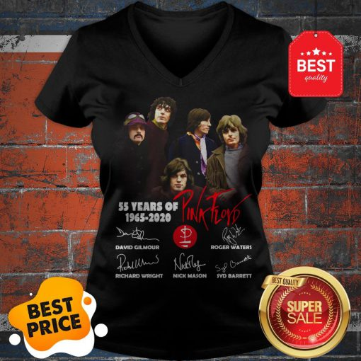 Official 55 Years Of Pink Floyd 1965-2020 Signature V-Neck