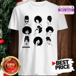 Official Afro And Headwrap Ladies Afrocentric Love Yaayaa Shirt