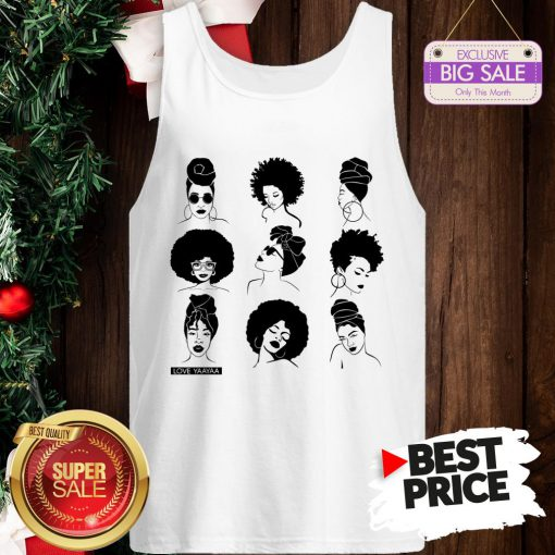 Official Afro And Headwrap Ladies Afrocentric Love Yaayaa Tank Top