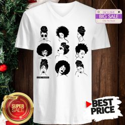 Official Afro And Headwrap Ladies Afrocentric Love Yaayaa V-Neck