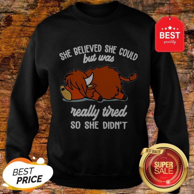 Official She Believed She Could But Was Really Tired So She Didn't Sweatshirt