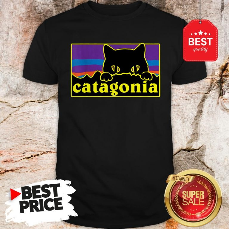 Official Top Catagonia Cat Meowntains Shirt