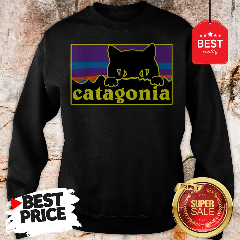 Official Top Catagonia Cat Meowntains Sweatshirt